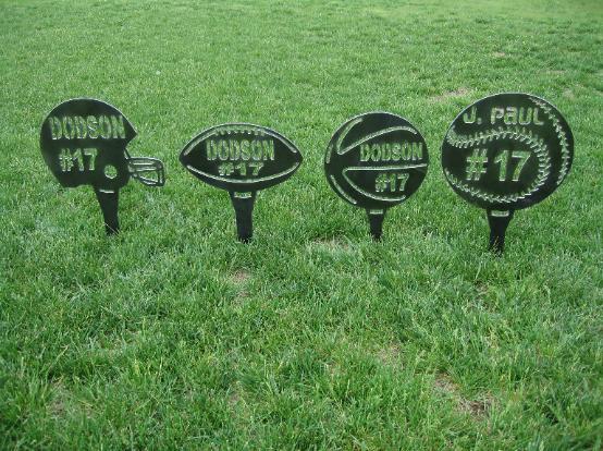 Wooden Yard Signs For High School Sports Birthday Yard