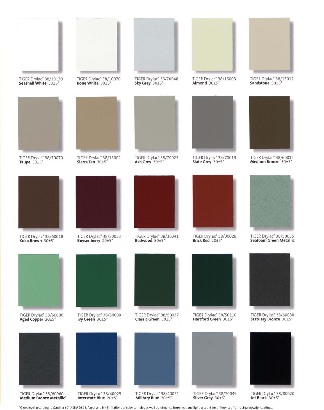 Tiger drylac color chart gallery free any chart examples tiger powder coat color chart gallery free any chart examples tiger powder coat color chart choice nvjuhfo Image collections