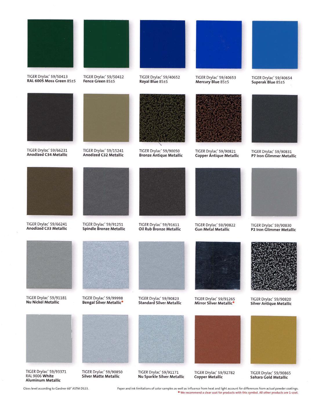 Powdercoat Colors 28 Images Powder Coat Colors